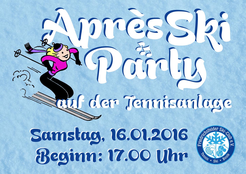 Plakat Après-Ski-Party 2016